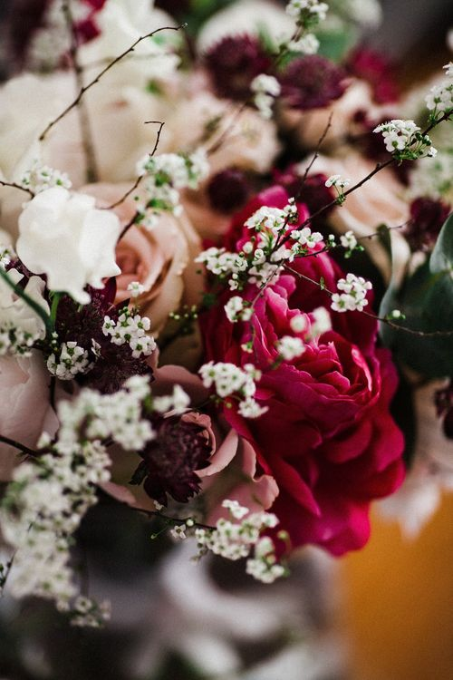 Red & White Flowers | The Electricians Shed, Trinity Buoy Wharf Wedding Planned by Utterly Wow | Claudia Rose Photography