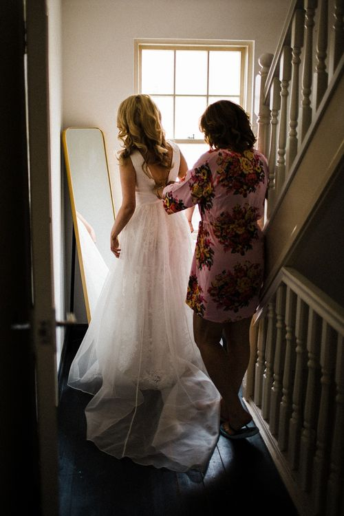 Wedding Morning Bridal Preparations | Ted Baker Wedding Dress | The Electricians Shed, Trinity Buoy Wharf Wedding Planned by Utterly Wow | Claudia Rose Photography