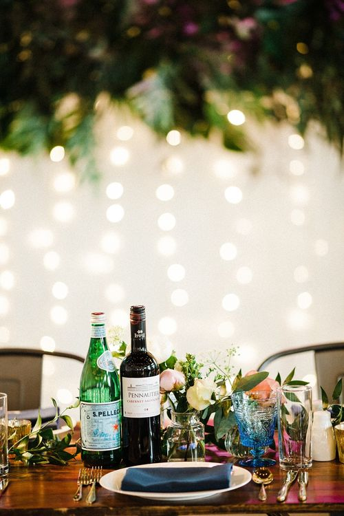 Table Setting | The Electricians Shed, Trinity Buoy Wharf Wedding Planned by Utterly Wow | Claudia Rose Photography