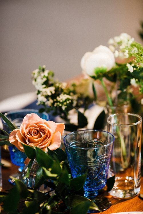 Table Decor | The Electricians Shed, Trinity Buoy Wharf Wedding Planned by Utterly Wow | Claudia Rose Photography