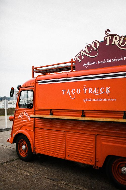 Taco Truck | The Electricians Shed, Trinity Buoy Wharf Wedding Planned by Utterly Wow | Claudia Rose Photography