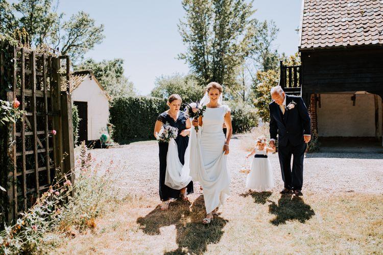 Bride In Pronovias Wedding Dress / Image By Sally Rawlins