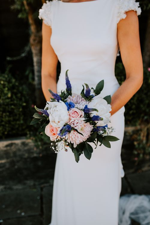Structured Wedding Bouquet Made By The Bride / Image By Sally Rawlins Photography