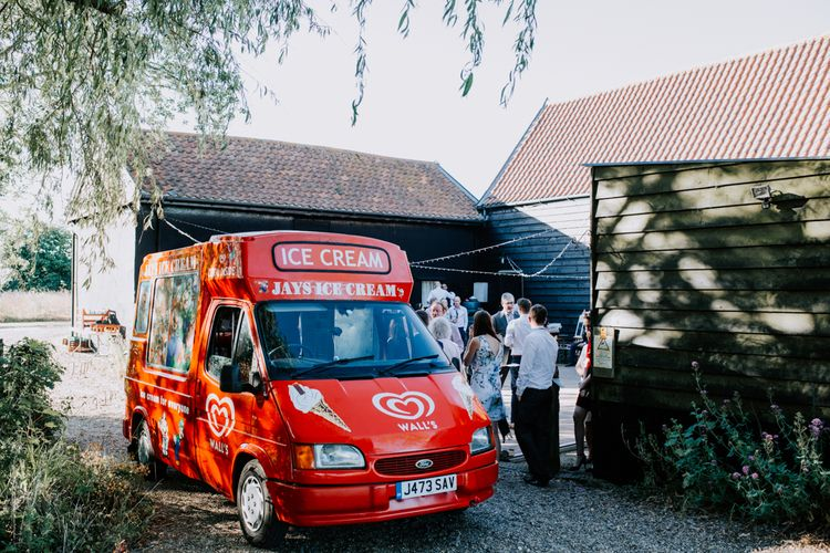 Ice Cream Van For Wedding / Image By Sally Rawlins Photography