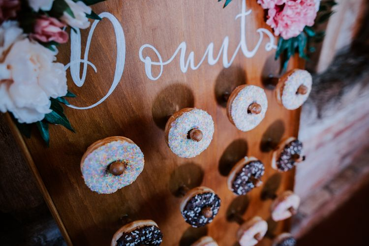 Donut Wall For Wedding / Image By Sally Rawlins Photography