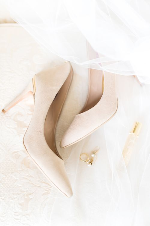 Wedding Shoes | Cowdray House, West Sussex | Photography by Emma Pilkington | Beattie Bailey planning & Styling | Bride wears Suzanne Neville