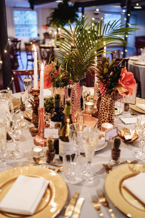 Candles and Foliage Centrepieces