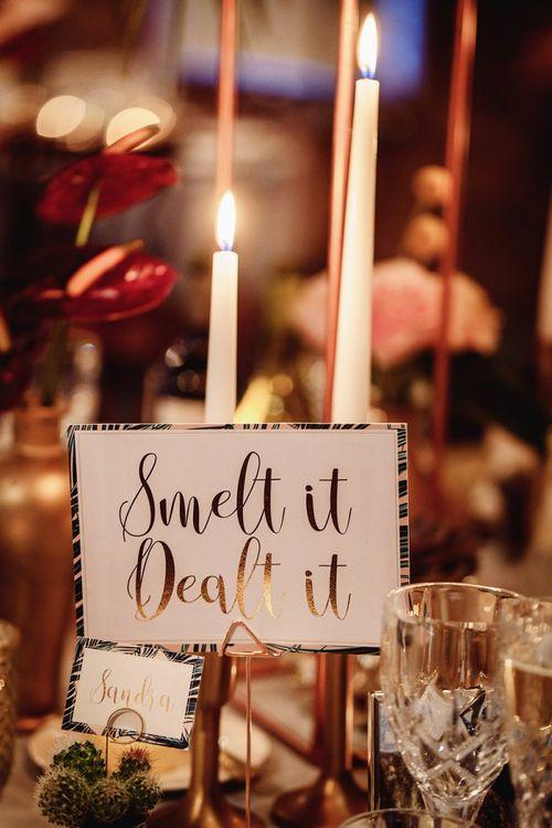 Smelt It Dealt It Fun Wedding Table Names