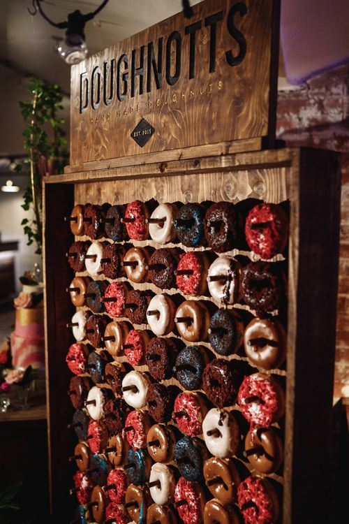 Wooden Doughnut Wall Wedding Decor and Favours
