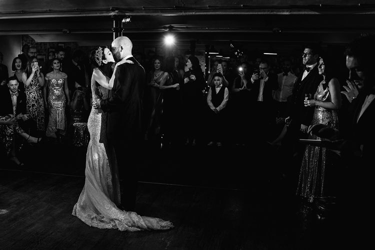 First Dance with Bride in Martina Liana Wedding Dress and Groom in Tom Ford Suit