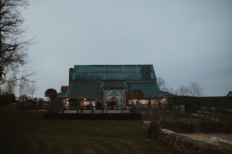 Cripps Barn Wedding Venue During the Evening