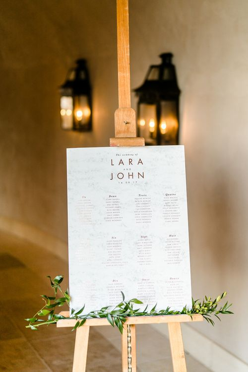 Table Plan | Luxe Pink & White Destination Wedding at La Bastide de Gordes in Provence, France, Styled by Haute Wedding | John Barwood Photography | Motion Craft Creative