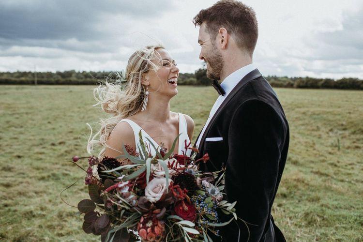 Bride and groom at Norfolk wedding