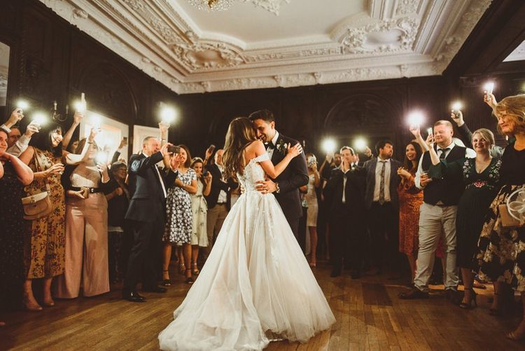 Bride and grooms first dance at London reception