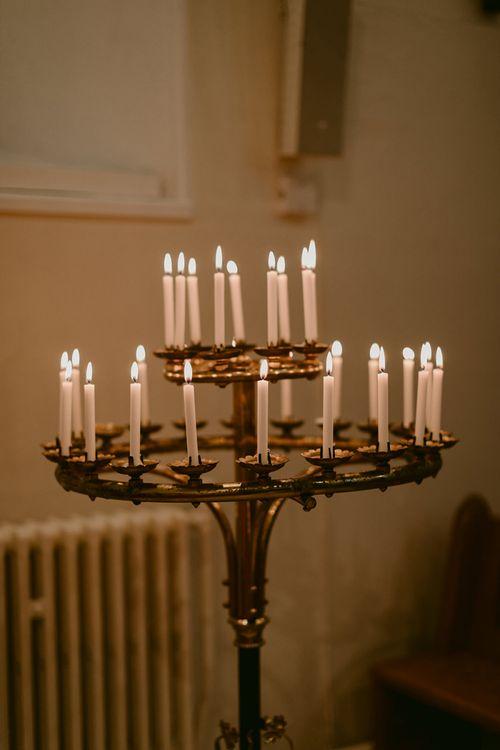 Church Wedding Candle Light