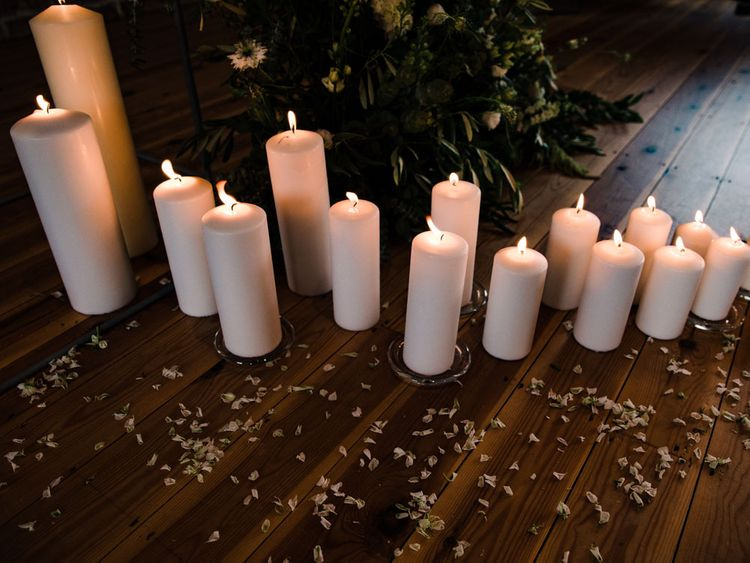 Candles for wedding decor