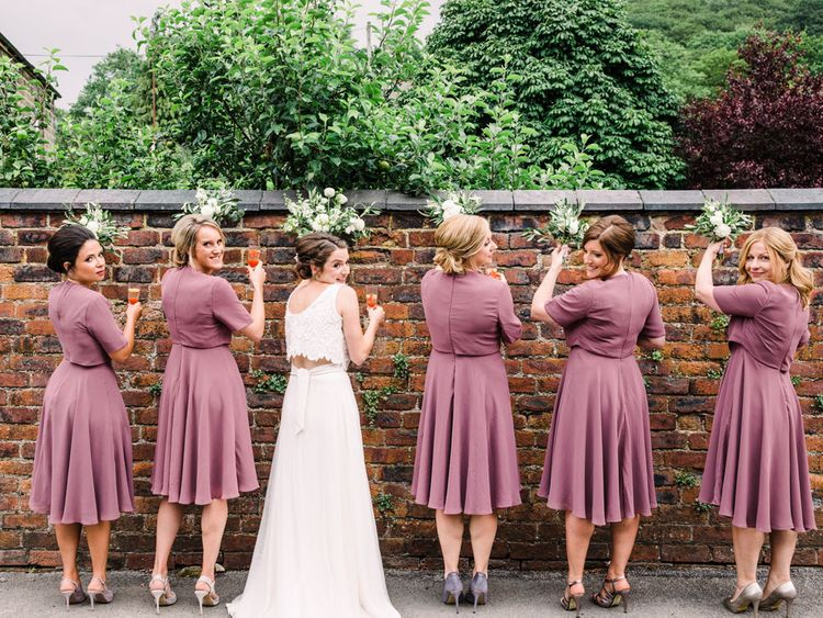 ASOS short bridesmaid dresses in pink