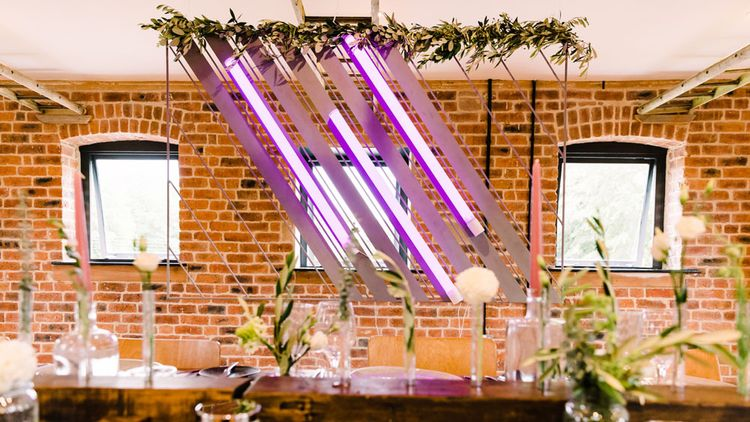 Neon wedding sign at Haarlem Mill wedding venue