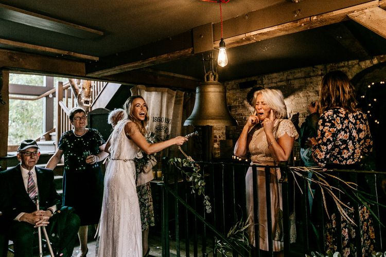 Bride in Charlie Brear Lace Gown | Quirky Pub Wedding at The Bell in Ticehurst East Sussex | Epic Love Story Photography