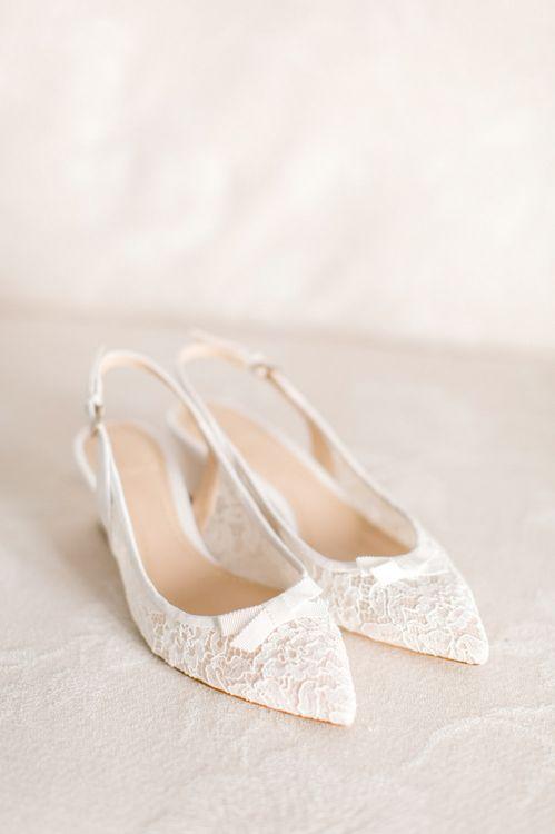 Jenny Packham Lace Kitten Heel Shoes from L.K Bennett