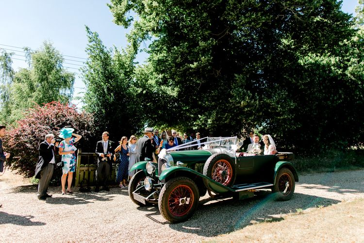 Forest Green Vintage Bentley Wedding Car