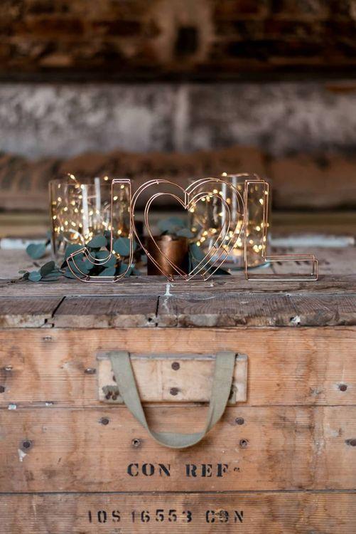 Wire Initials Wedding Decor