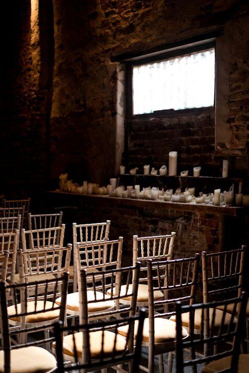 Church Candles Wedding Decor