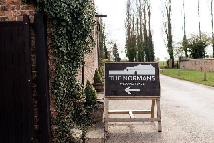 The Normans Wedding Venue Sign