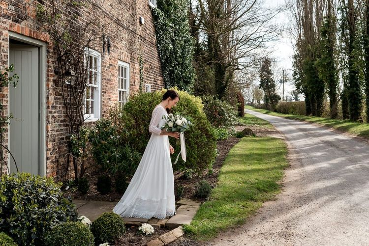 Bride in Lace Rembo Styling Wedding Dress