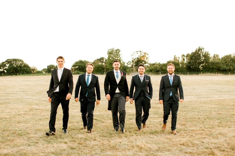 Groomsmen in Traditional Tails Morning Suits