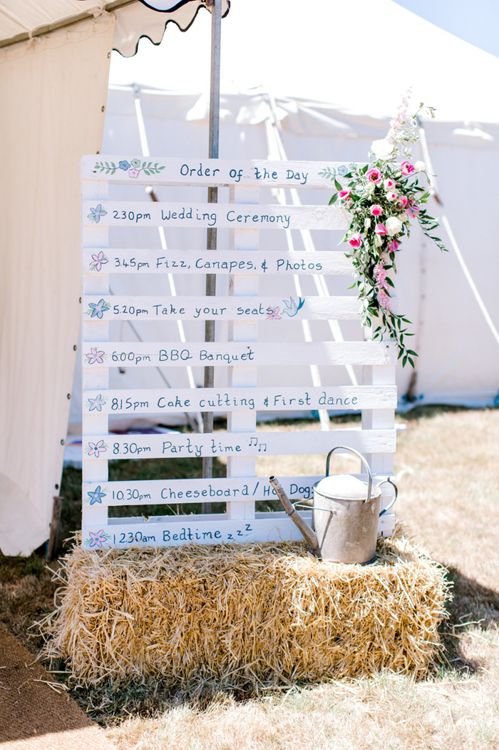 Homemade Wooden Palette Order of The Day Sign