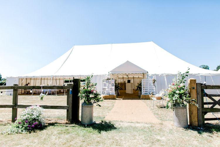 At Home Marquee Wedding Reception with Homemade Wedding Decorations