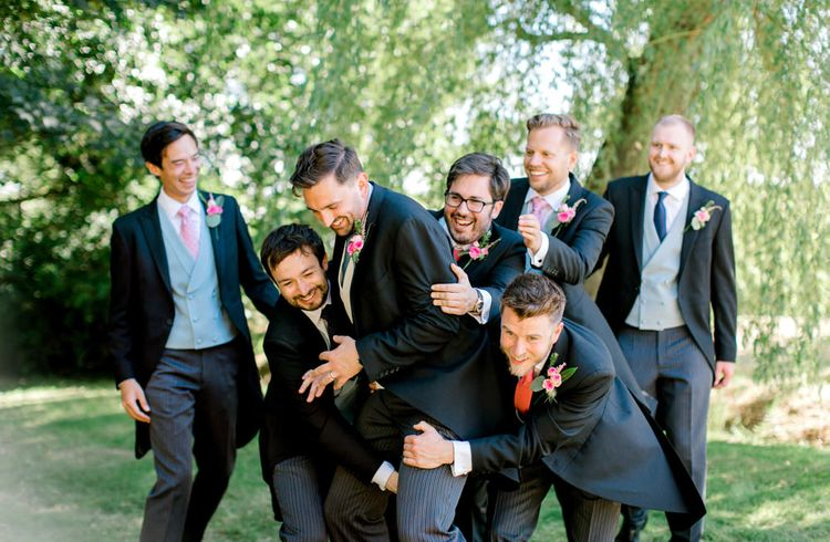 Groomsmen in Traditional Morning Suits