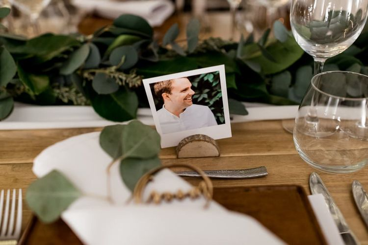 Polaroid Picture Name Place Card