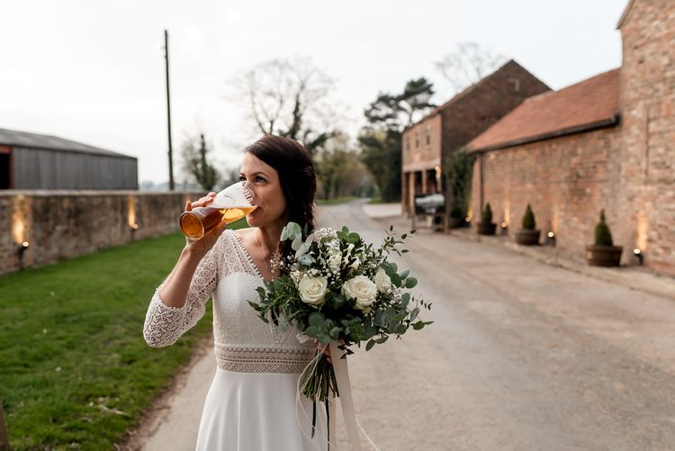 Boho Bride in Rembo Styling Wedding Dress with Braid