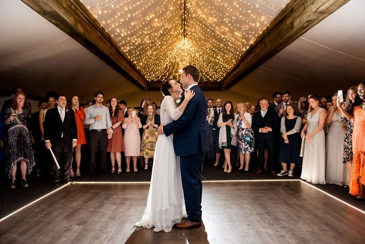 Bride and Groom First Dance at The Normans
