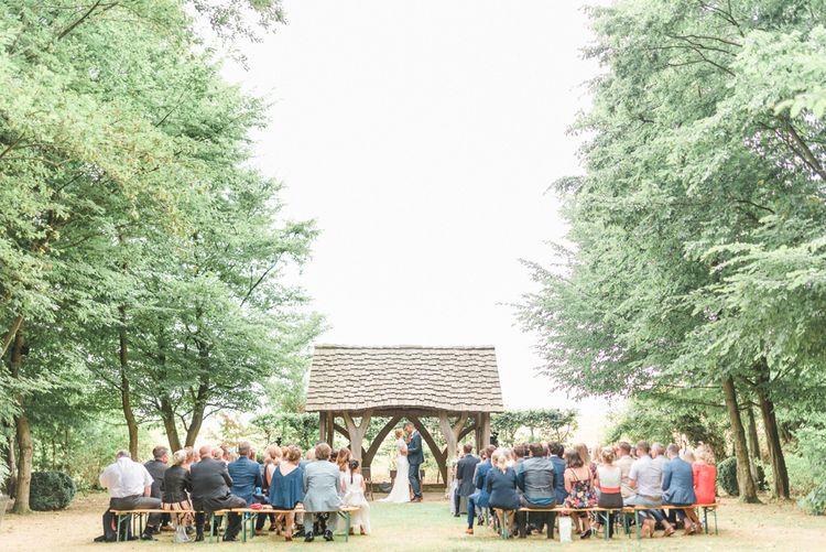 Outdoor Wedding Ceremony at  Cripps Barn, Bibury