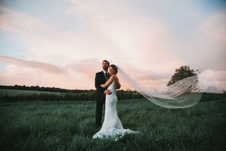 Magical Light For Couple Portraits // Glastonbury Themed Table Plan For Wedding At Stone Barn Cotwolds With Groom In Cad & The Dandy Images Meghan Lorna