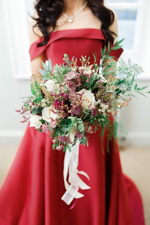 Winter Bridal Boutique   Red New Years Eve Winter Wedding at Iscoyd Park, Shropshire   White Stag Wedding Photography   Lovetwofilm