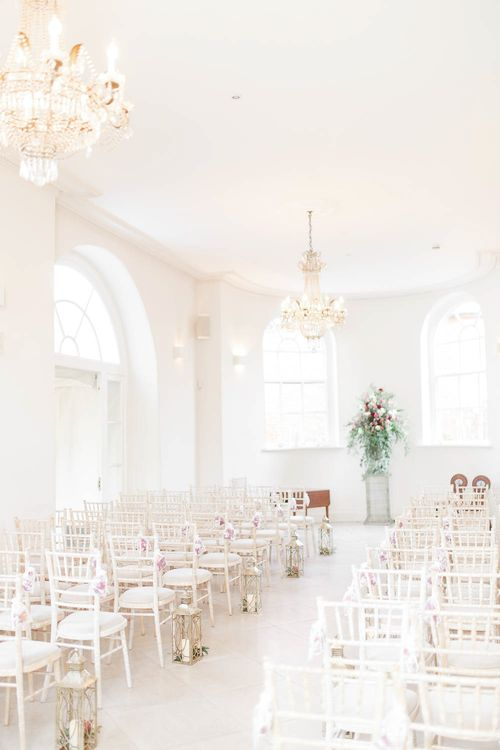 Aisle and Altar Style   Red New Years Eve Winter Wedding at Iscoyd Park, Shropshire   White Stag Wedding Photography   Lovetwofilm