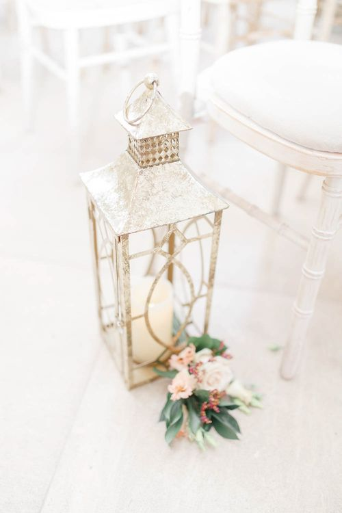Lantern and Flower Aisle Wedding Decor   Red New Years Eve Winter Wedding at Iscoyd Park, Shropshire   White Stag Wedding Photography   Lovetwofilm
