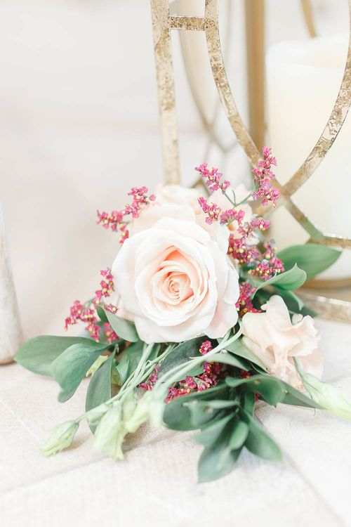 Pink Rose Wedding Flowers   Red New Years Eve Winter Wedding at Iscoyd Park, Shropshire   White Stag Wedding Photography   Lovetwofilm