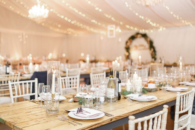 Wedding Reception Decor   Red New Years Eve Winter Wedding at Iscoyd Park, Shropshire   White Stag Wedding Photography   Lovetwofilm
