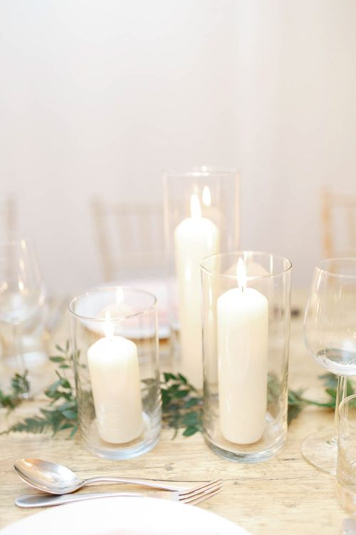Church Candles   Wedding Reception Decor   Red New Years Eve Winter Wedding at Iscoyd Park, Shropshire   White Stag Wedding Photography   Lovetwofilm