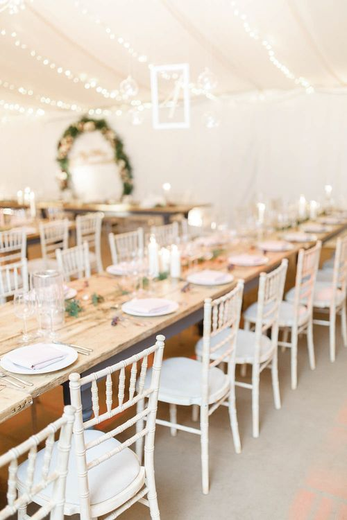 Trestle Table with Candle Decor   Wedding Reception Decor   Red New Years Eve Winter Wedding at Iscoyd Park, Shropshire   White Stag Wedding Photography   Lovetwofilm