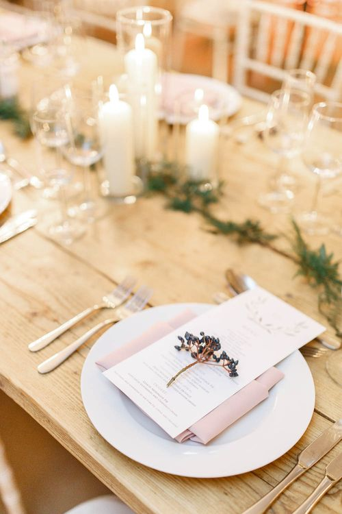Elegant Place Setting   Wedding Reception Decor   Red New Years Eve Winter Wedding at Iscoyd Park, Shropshire   White Stag Wedding Photography   Lovetwofilm