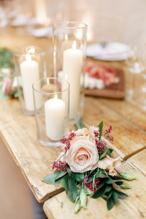 Church Candles & Wedding Flowers   Wedding Reception Decor   Red New Years Eve Winter Wedding at Iscoyd Park, Shropshire   White Stag Wedding Photography   Lovetwofilm