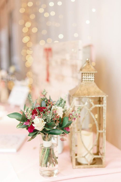 Lanterns Wedding Reception Decor   Red New Years Eve Winter Wedding at Iscoyd Park, Shropshire   White Stag Wedding Photography   Lovetwofilm