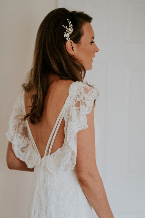 Lace wedding dress from Sass & Grace