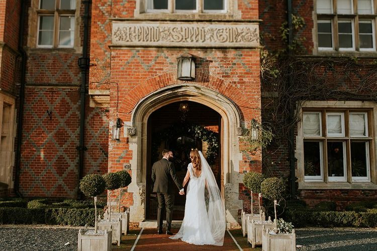 Bride and groom at Burley Manor wedding venue